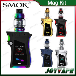 Wholesale Handle Designs - SMOK Mag Kit 225W Mag TC Mod With 8ml TFV12 Prince Tank Lock-n-load Gun-handle Design Firmware Upgradeable 19 Colors Available 100% Orignal