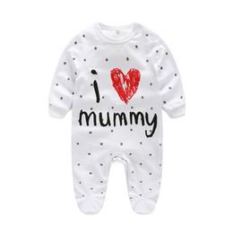 Wholesale Underwear Children Girls - 2018 New Children pajamas baby rompers newborn baby clothes long sleeve underwear cotton costume boys girls autumn rompers
