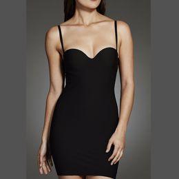 e64012156db3a Women s Sculpt Strapless Contour Bra Slip Dress Sexy Smooth Seamless  Shapewear