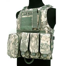 Camouflage Caccia Tactical Jacket Wargame Body Molle Armor Caccia Gilet CS Outdoor Attrezzature giungla da