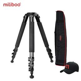 штативы Скидка miliboo портативный (без головы) углеродного волокна штатив для профессиональной камеры видеокамеры / видео / DSLR стенд, стабильный дизайн