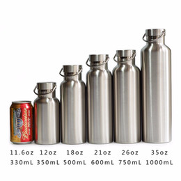 Wholesale Bicycle Double - Coke Bottle Stainless Steel Thermos Double Wall Vacuum Insulated Water Bottles Flask Mug Cup Tumbler with Bamboo Cap