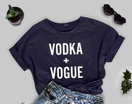 impressão camisa kpop Desconto Vodka + vogue Coreano estilo gráfico moda camiseta carta impressão unisex kpop linda tops roupas tee juventude t-shirt estética mulheres