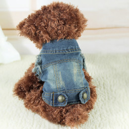 black poodle dogs Coupons - Cool Cowboy Pet Dog Cat Denim Vest Dog Clothes Summer Chihuahua Yorkie Poodle Teddy Dachshund Husky