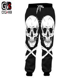 2019 mulher esqueleto de calças OGKB Moda Harem Pants Mulheres Homens Skeleton Bone 3d Impresso Sweat Pants Sweatpants Homem de Fitness Slim Fit Calças Dropship desconto mulher esqueleto de calças