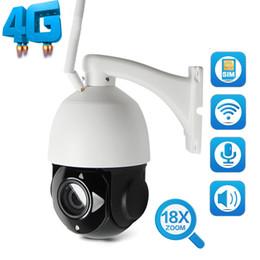 câmera de hd ao ar livre sd Desconto HD 1080 P WI-FI Câmera de CCTV Ao Ar Livre 3G 4G Cartão SIM Câmera Speed Dome IP Wi-Fi 18X Zoom Cartão SD PTZ Cam Áudio Falante Falante