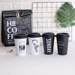 Tazze di caffè libere online-Creativo in acciaio inox tazza di caffè piacevole succo di vetro con coperchio in silicone tazza tazza di acqua libera la nave