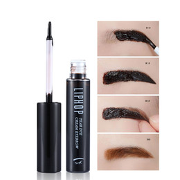 Wholesale gel for tattoos - Liphop New Style Tattoo Eyebrow Gel Super Lasting for 72h Waterproof Sweat Professional Peel Off Natural Eyebrow Tint Dye Makeup