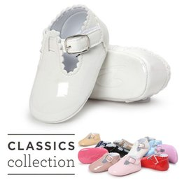 Wholesale Boys Shoes Size 12 New - Fashion newborn baby new toddler baby girls boys PU leather crib shoes baby girls anti-slip shoes soft sole sneakers