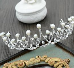 Wholesale hair claw korean - Bridal Wedding dress, accessories, Korean version, pearl crown, hair tie, wedding headwear, diamond drill hair accessories, new style.