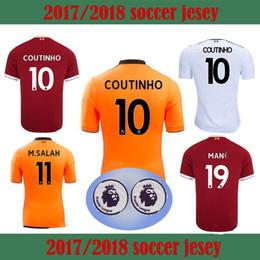 Wholesale Orange Left - 1718 Gerard Salah Phil Keita Football Jersey Thailand quality 20172018 left white orange mane Gao Tianci Lucas Sturridge Chamberlain Sturrid