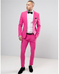 34bc303120e6 2018 Hot Pink Men Suits Custom Made Casual Blazer Beach Tuxedo Colorful Summer  2 Pieces Slim Fit Terno Masculino (Jacket+Pants)