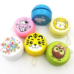 Wholesale Old Shapes - Animal Prints Yo Yo Toys Novelty Gift Wooden Yoyo Ball Children Toy Many Styles New 2td C
