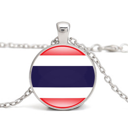 Thailand Flag Pendant Necklace Southeast Asia Country National Flags Brunei Singapore Malesia I Love Hometown Men Women Jewelry all'ingrosso cheap necklace thailand da collana tailandese fornitori