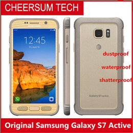 Wholesale Galaxy Active - Original Samsung Galaxy S7 active G891A Mobile Phone 5.1 inch 4GB RAM 32GB ROM Quad Core 2560x1440p Android 4000 mAh waterproof Smart Phone