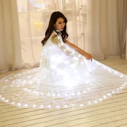 Canada 2017 Songyuexia ailes de danse papillon LED manteau lumineux adulte châles mariage performance danse costume seulement robe pour femme cheap wedding dresses led Offre