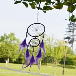 net hängen lila Dreamcatcher indischen Stil handgefertigte Dream Catcher Rundnetz mit Federn Wandbehang Dekoration Ornament Geschenk von Fabrikanten