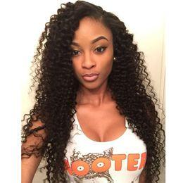 бразильские человеческие волосы афро Скидка Девственные бразильские человеческие волосы афро кудрявый вьющиеся полный кружева парики кружева фронт человеческих волос парики для черных женщин