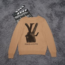 Wholesale street style clothing - Top quality Luxury Sweaters yes print High street fashion clothing black 2XL m159