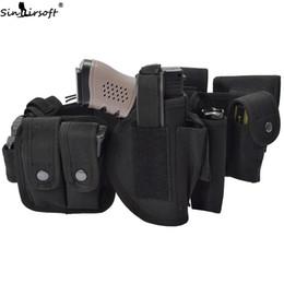 SINAIRSOFT Tactical Multifuncional Cinturón de Guardia Kit Traje Faja Cintura con 10 Mag Bolsa Funda de Seguridad Policía Guard Kit de Utilidad Nylon desde fabricantes