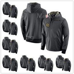 Wholesale Hoodie Youth - Men's Youth Women's Oakland Philadelphia Pittsburgh Seattle Tampa San Francisco Anthracite Salute to Service Player Performance Hoodie