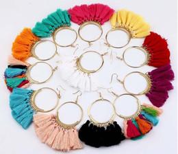 Fatto a mano etnico Bohemian Tassel orecchini vintage donne boemia gioielli lunghi orecchini nappa per le donne a buon mercato all'ingrosso da