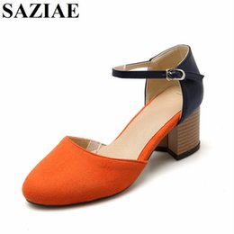 Wholesale Gray Dress Shoes Women - 2017 Hot Sale Fashion Orange Gray Pink Colors Buckle Women Shoes High Heels Gladiator Sandals Dress Summer Zapatos Mujer Shoes