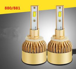 P6 führte scheinwerfer online-2pcs PFEILER 880/881 P6 Birnen-Scheinwerfer-Licht-goldene Auto-Scheinwerfer-Birnen 6000K führten Lampe