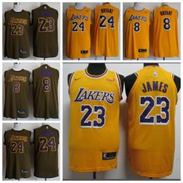 detailed look 65927 6347f 23 LeBron James Los Angeles Laker 24 Kobe Bryant 8Kobe Bryant pullover da  basket da uomo