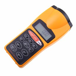 Wholesale Meter Volume - 1PC Handheld LCD Digital Display Laser Pointer Ultrasonic Distance Meter Area Volume Calculator 0.5m~18m Rangefinder