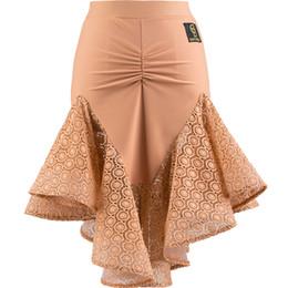 Rumba ropa online-Faldas de baile latino sexy para mujer 2018 ropa nueva para la salsa de baile latino Faldas de ejercicio trajes de rumba Cha-Cha DN1513