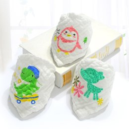 Wholesale Gauze Scarfs - Baby bandana 6 layers cotton gauze super soft and absorbent baby bibs newborn Triangle Scarf 5pieces lot