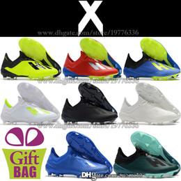 the latest 15f44 42b58 Barato Nuevo X 18.1 FG Zapatos de fútbol para hombre Botas de fútbol  originales X 18.1 Botines de fútbol Zapatos de fútbol de cuero Negro Azul  Verde Blanco ...