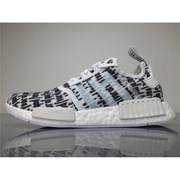 Wholesale Wholesale Fish Bowls - 2017 Originals Nmd Shoes Fear of God X NMD Real Boost BA7247 Sneakers Men FOG Running Shoes NMD Runner with Original Box