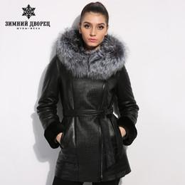Wholesale women sheepskin jacket - jacket women's winter Genuine Leather women Leather clothing Good quality fur coats coat sheepskin coat fox fur collar
