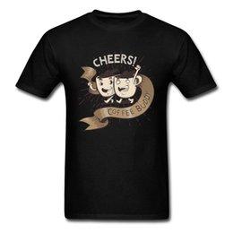 2019 magliette felpate 100% cotone acclamazioni caffè compagno uomini maglietta nera colletto tondo maschio t-shirt manica corta divertente vintage maglietta del fumetto magliette felpate economici