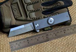 Wholesale Finger Fold - Titanium alloy blade handle finger D2 titanium bearing gyro flippers camping folding knife tool EDC