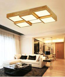 Argentina Creative OAK living room bedroom Modern led luces de techo lamparas de techo colgante lámpara de techo de madera led lámpara de techo Suministro