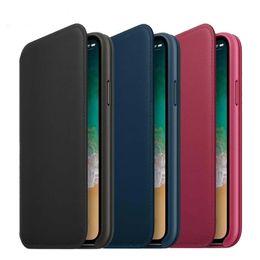 Deutschland Offizielle 1: 1 Original Wallet Flip Ledertasche für iPhone X Smart Phone BACK SIGN Kartensteckplatz Abdeckung Fall i X Kleinkasten Versorgung
