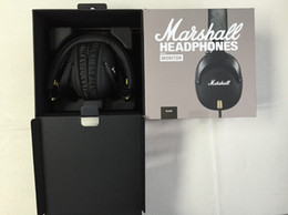Wholesale Lg Monitors - Marshall Monitor Foldable Headphones with MIC Leather Noise Cancelling Deep Bass Stereo Earphones Major Pro DJ Hi-Fi Headphone Headset new