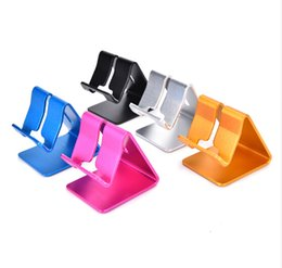 Wholesale Tablet Retail Stand - Hot Universal Aluminum Metal Mobile Phone Tablet Holder Desk Stand for iPhone 7 Plus Samsung s8 plus ZTE Max XL with Retail package dhl