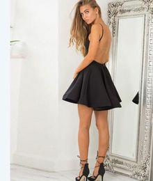Heißer Verkauf Short Black Backless Prom Dresses Homecoming Kleider Kurzen Kleid für Frauen Party Kleider Unter 100 von Fabrikanten