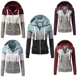Wholesale 5xl Zip Hoodie - 2017 New Women Fashion Plus Size Thin Zip-Up Hoodie Jacket Drawstring Letter Printed Long Sleeve Sweatshirts