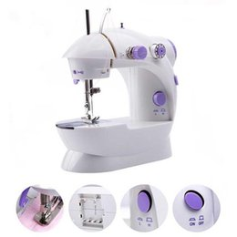 Wholesale Mini Embroidery Machine - Electric sewing machine Mini Automatic Tread Rewind Sewing Machine tools Dual Speed Double Thread with Power Household Desktop