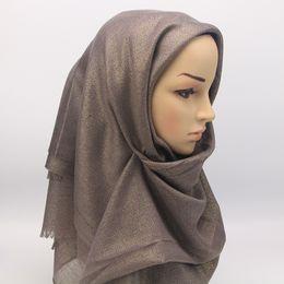 Canada 2018 foulard musulman femmes mode foulards femme pure couleur silencieux enveloppe hijab pour l'islam 90 * 195 cm supplier foulard hijab fashion Offre