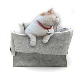 Wholesale Hair Functions - Portable Hair Felt Pet Houses Breathable Anti Bacterial Cat Nest Multi Function Resuable Folding Cattery Gray Eco Friendly 25fr B
