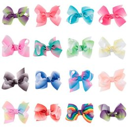 Wholesale Candy Clips - 15 colors baby girl candy color big bow barrettes Design Hair bowknot Children rainbow colorful Hairpin Girls Hair Clips Baby Hair Accessory