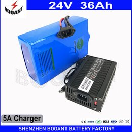 Wholesale 24v li charger - BOOANT 24v Electric Bicycle Battery 36Ah 1000w with 5A Charger Li-ion Battery 50A BMS Rechargeable Battery 24v Free Shipping