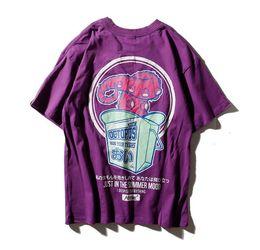 Wholesale Japanese Floral Shirts - T Shirt Men Japanese Print Men's Tee Shirts O-neck T Shirt Cotton Casual Streetwear T Shirts Couple Summer Fashion Tees