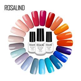 Canada Rosalind 7ML coloré série Vernis à ongles Gel Presque Flavorless Nail Art pour la bouteille blanche Semi permanent Gel laque cheap white lacquer Offre